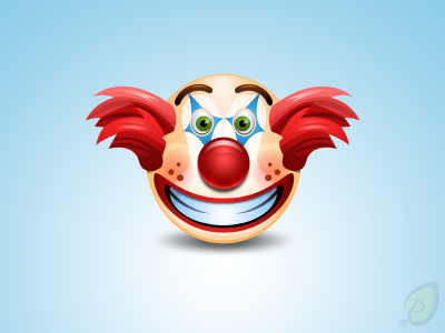 Clown Icon Free PSD