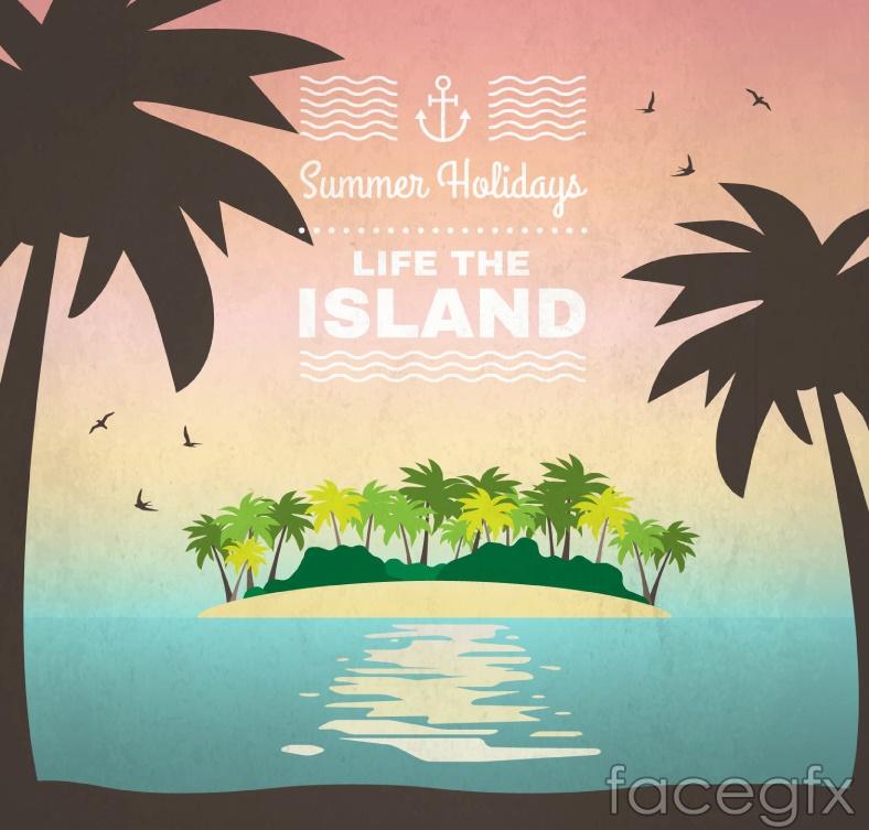 Coconut trees in the summer island vector over millions vectors coconut trees in the summer island vector free download toneelgroepblik Images