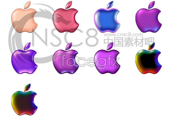 Color Apple desktop icons