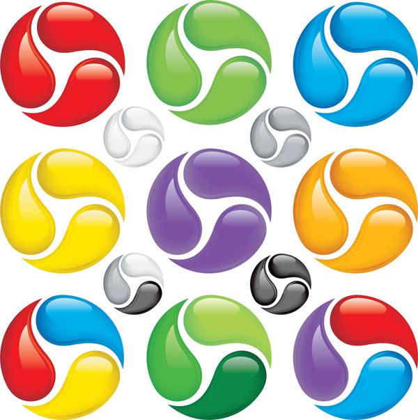 Color ball vector