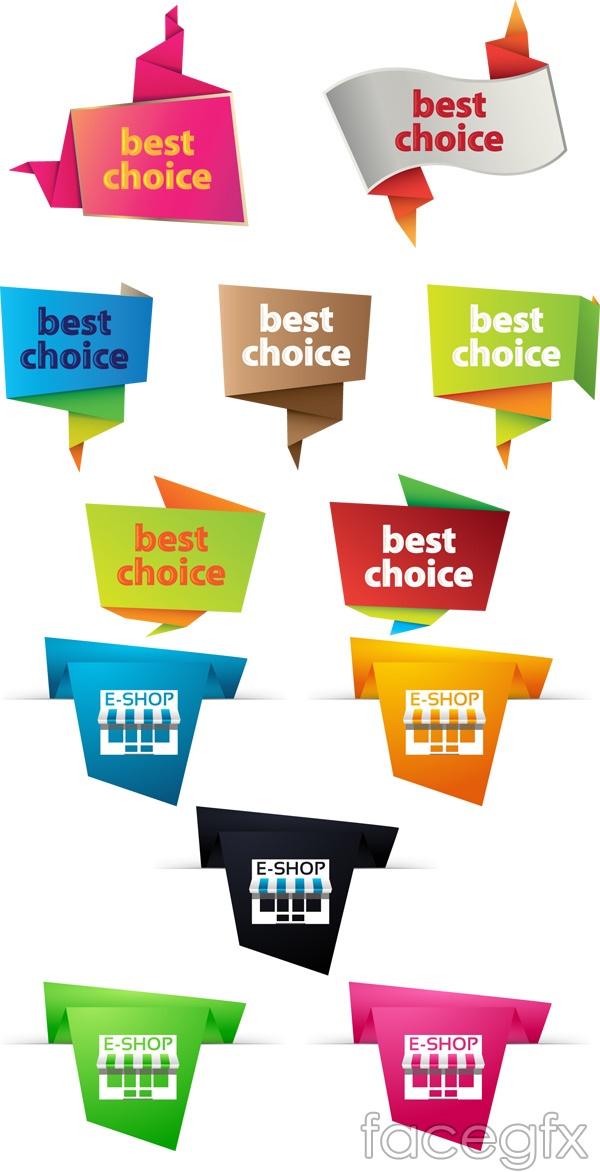 Color corner sale tag vector
