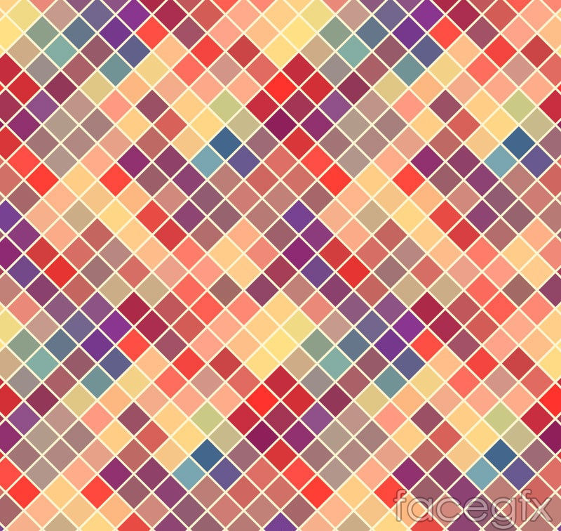 Color diamond mosaic background vector – Over millions