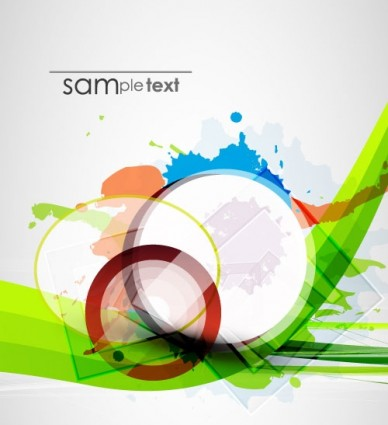 color ink background 06 vector