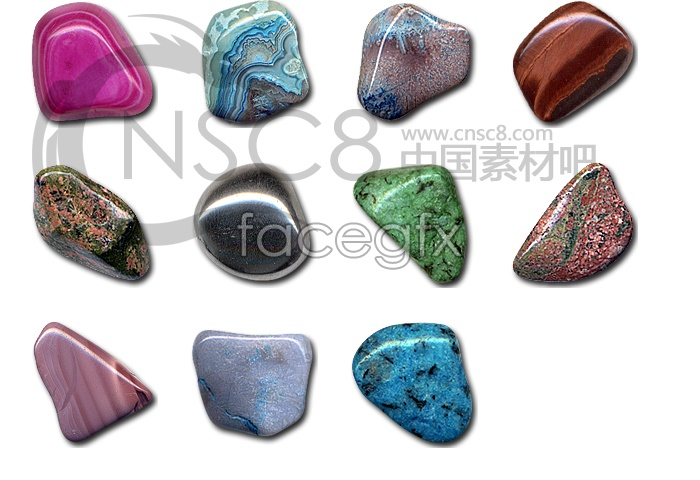 Color landscape stone icon