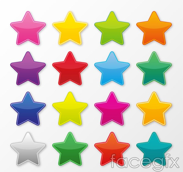 Color star vector