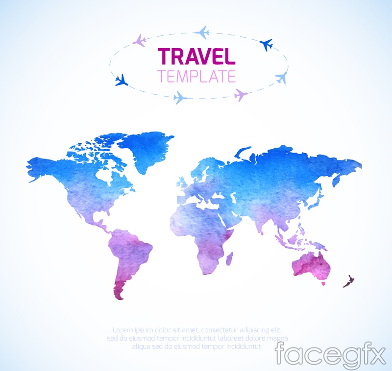 Color travel world map vector over millions vectors stock photos color travel world map vector free download color gumiabroncs Image collections