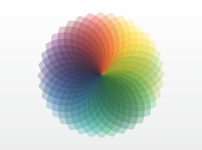 Color Wheel Spectrum vector free