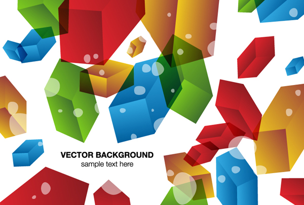 Colored 3d geometric shapes background vector over millions colored 3d geometric shapes background vector toneelgroepblik Gallery
