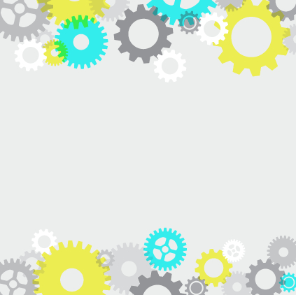 Colored gear with white background vector free