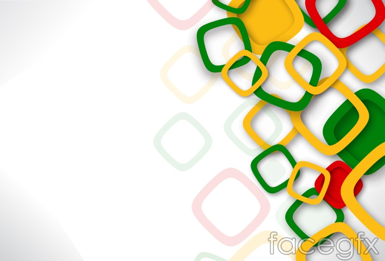 Colored Square Box Background Vector Over Millions