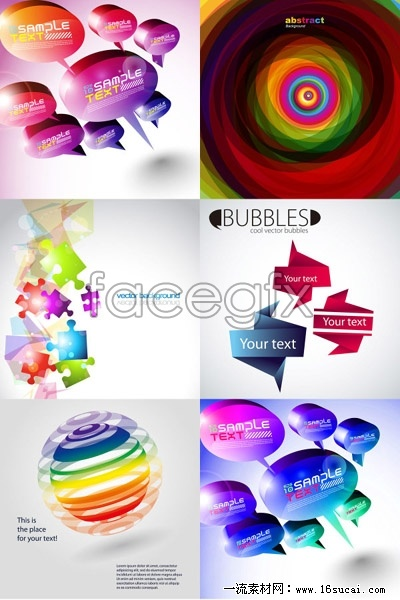 Colorful backgrounds and three-dimensional shape vector – Over ...