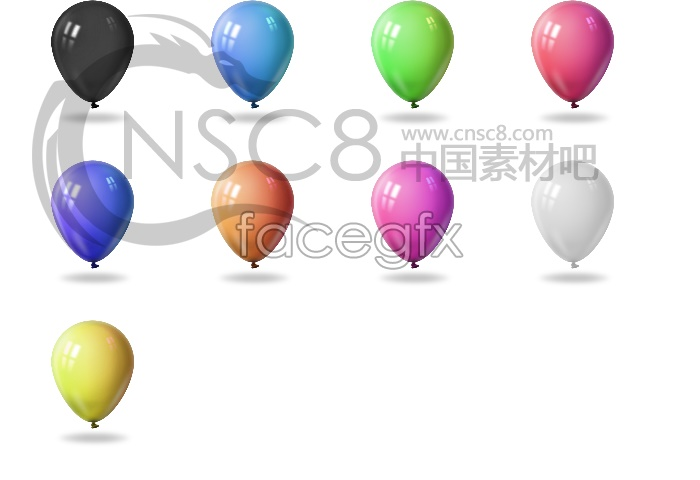 Colorful balloon icons