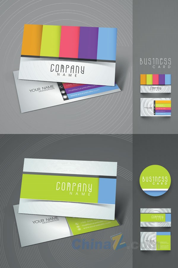 Colorful business card vector template design over millions colorful business card vector template design reheart Choice Image