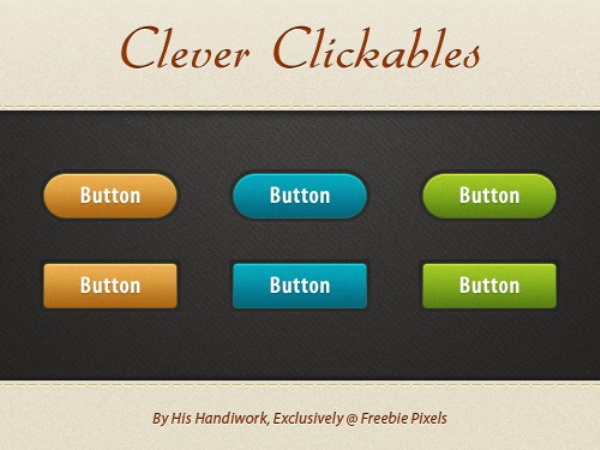 Colorful buttons PSD