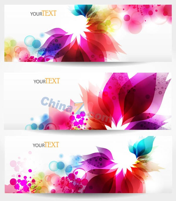 colorful flower banner template design vector over millions vectors stock photos hd pictures. Black Bedroom Furniture Sets. Home Design Ideas