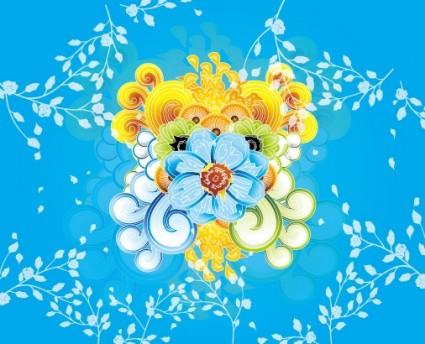 Colorful Flower Vector Art Illustra