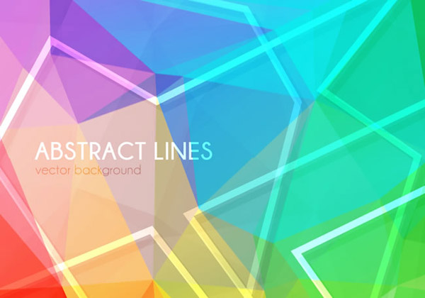 Colorful geometric-shaped background vector