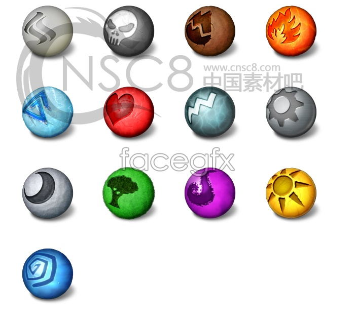 Colorful ORB icons