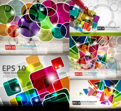 colorful rectangles background vector