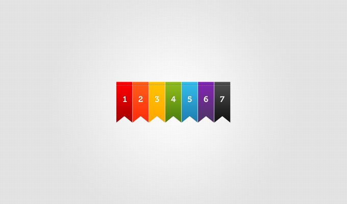 Colorful Ribbons PSD