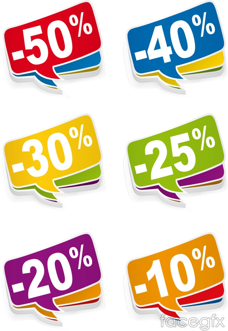 Colorful sale tag vector – Over millions vectors, stock