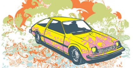 Colour background with car