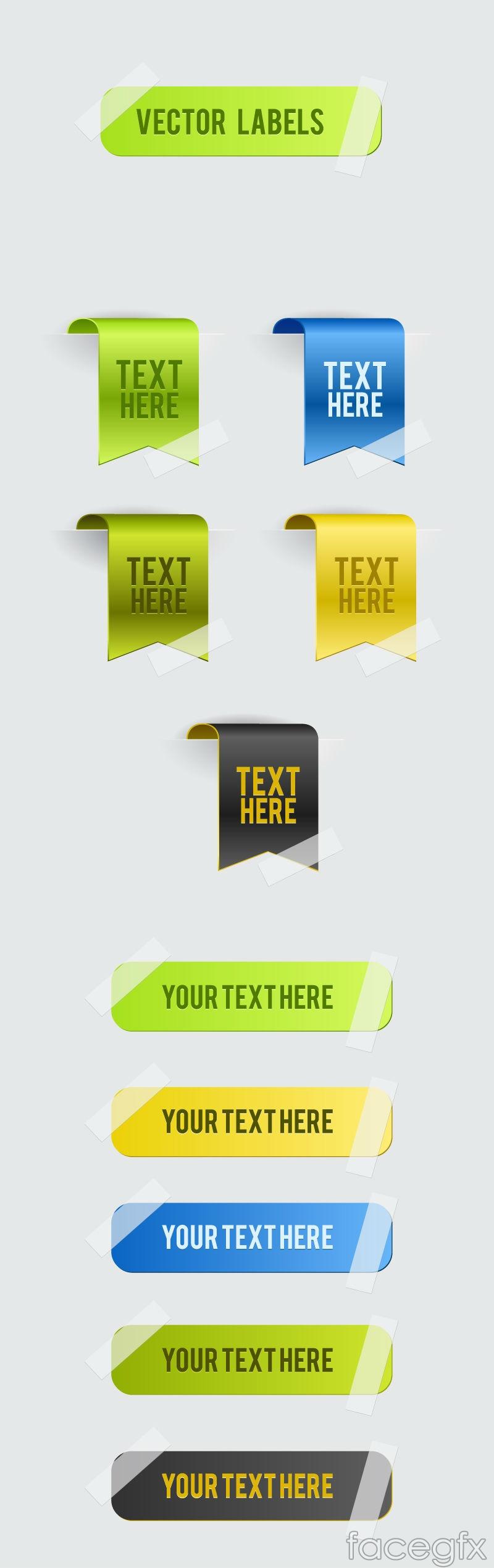 Colour delicate corners sticker vector