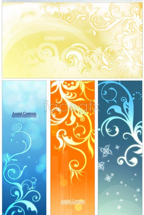 Colour trend pattern Vector