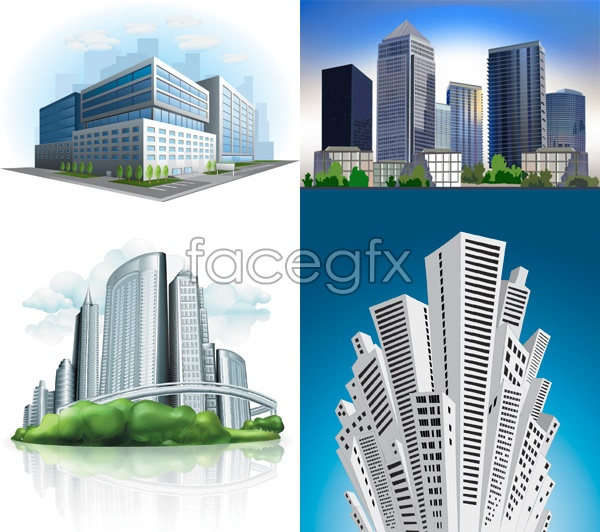 Commercial building design vector over millions vectors for Commercial building plans free
