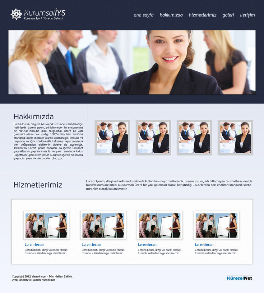 Company Web Interface Design
