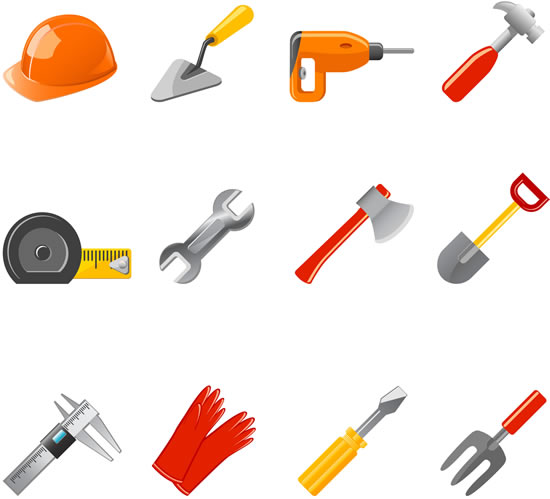 Construction equipment icons