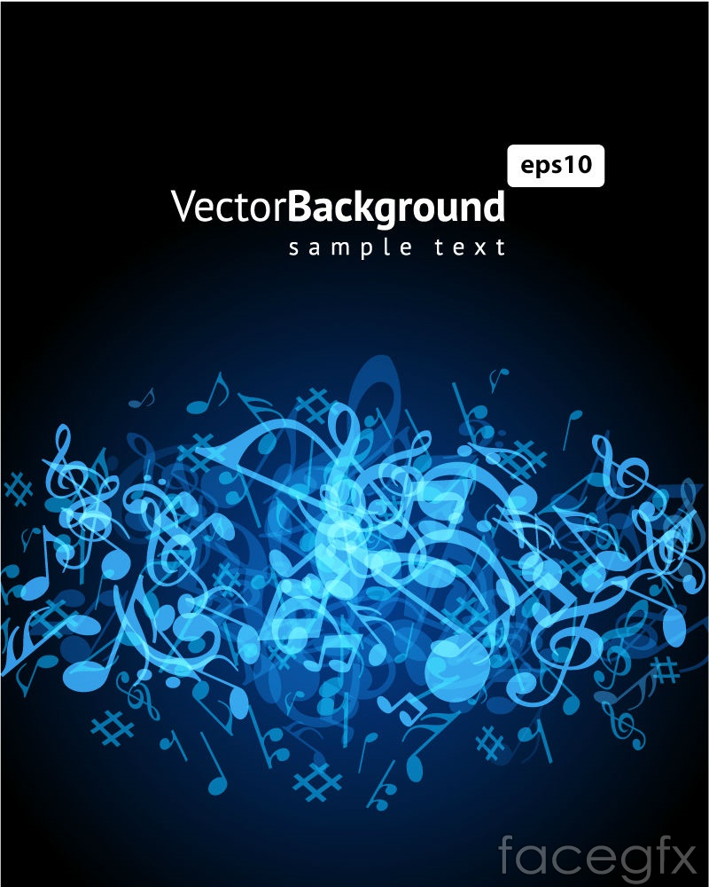 Cool Blue Note background vector