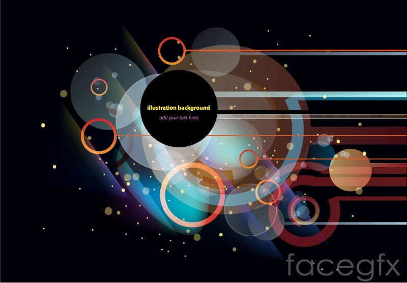 Cool circular background design vector