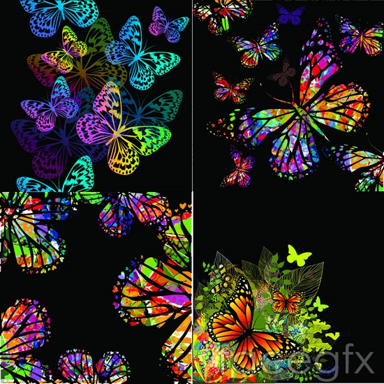 Cool color Butterfly vector