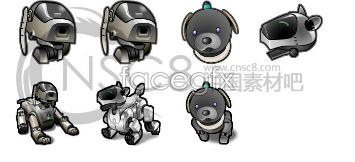 Cool sand robot dog icon