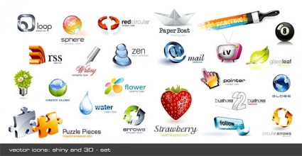 cool threedimensional crystal effect icon vector