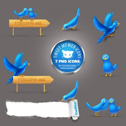 Cool Tweet  icons icons pack