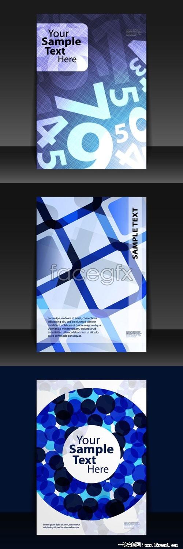 Creative album cover background vector