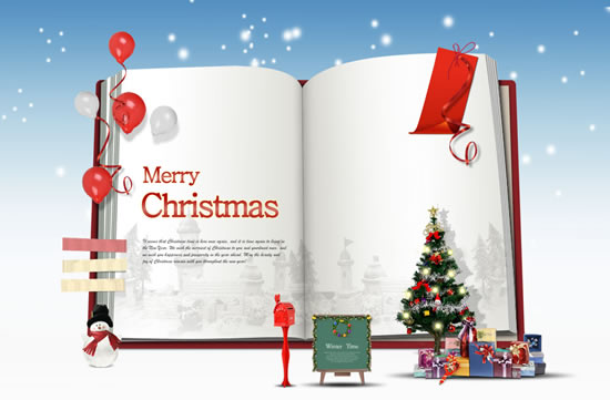 Creative books christmas poster psd – Over millions vectors, stock