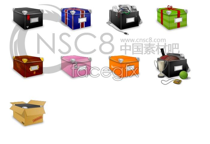 Creative box computer icon