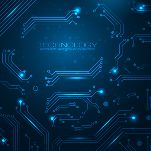 Creative circuit board concept background vector 04 free – Over ...