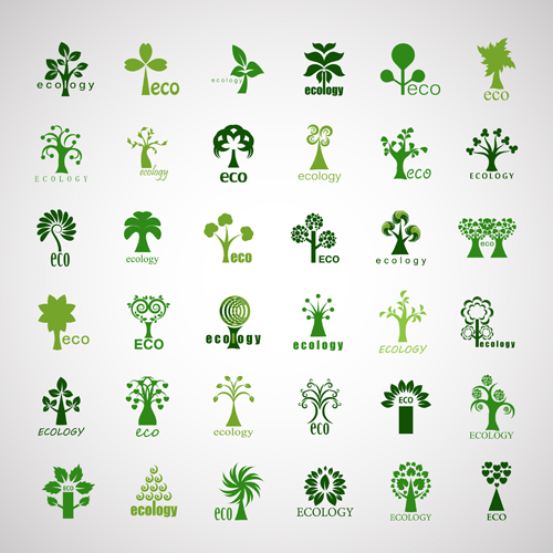 Creative ecology tree icons vector free – Over millions ...