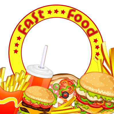 Creative Fast Food Products Background Vector 02 Free