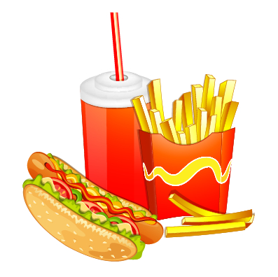 Creative fast food products background vector 03 free – Over