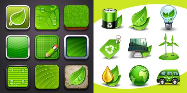 Creative green icon