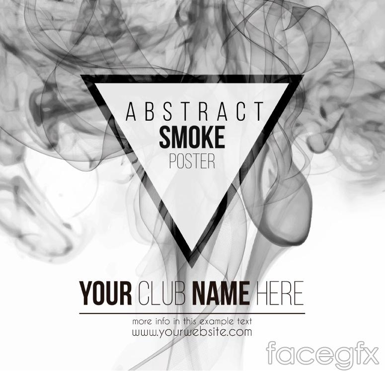 creative grey smoking poster background vector