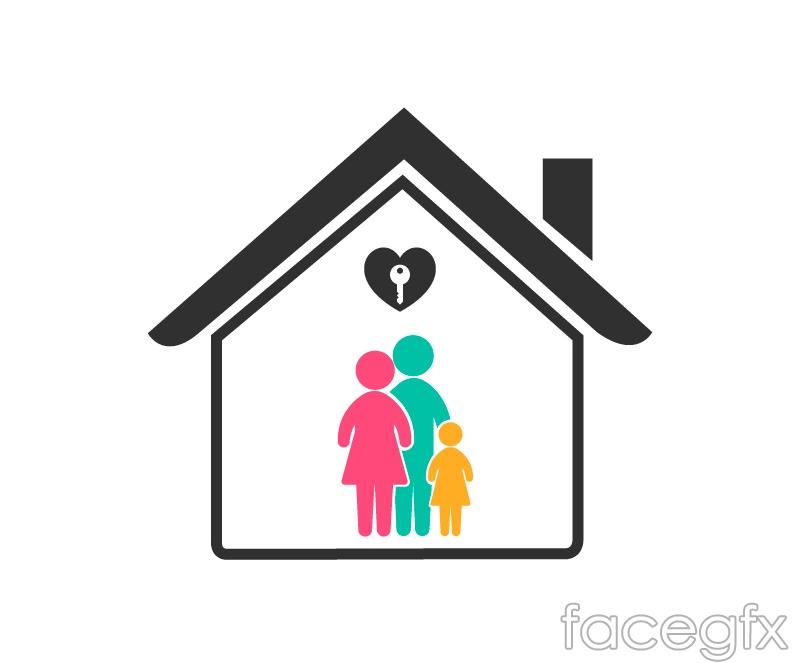 Creative housing family logo vector – Over millions vectors