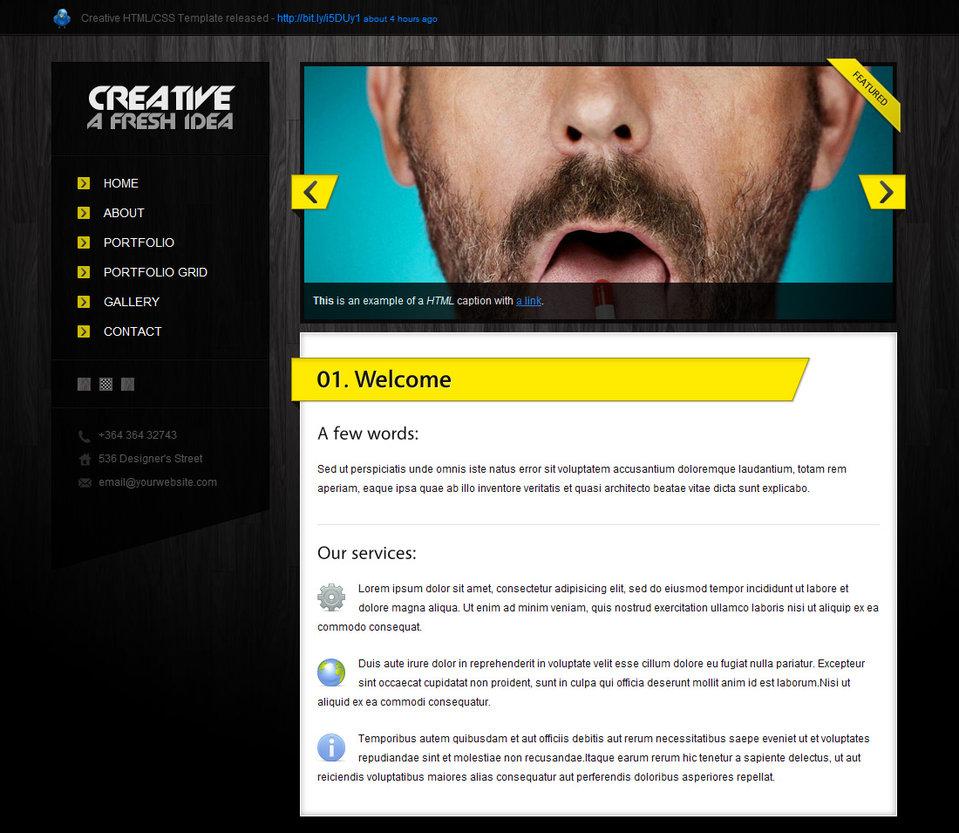 creative html css template over millions vectors stock photos