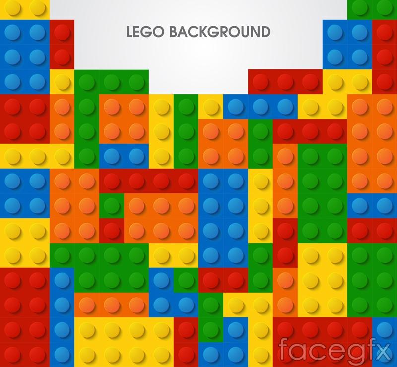 Creative lego background vector – Over millions vectors ...