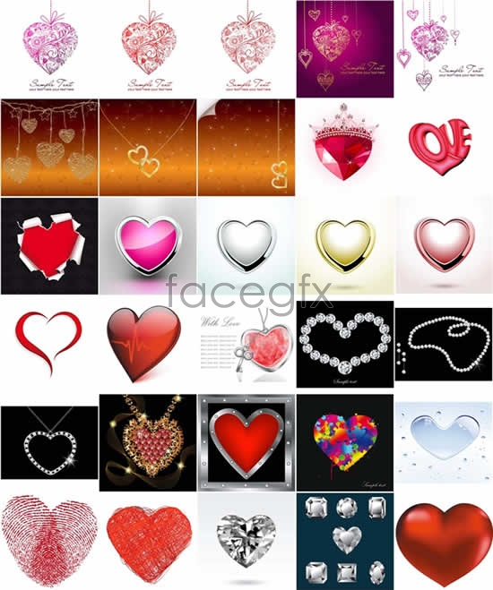 Creative romantic heart-shaped Vector